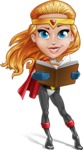 Female Superhero Cartoon Vector Character AKA Starshine Megagirl - Book