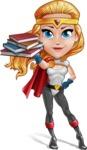 Female Superhero Cartoon Vector Character AKA Starshine Megagirl - Books 2