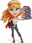 Female Superhero Cartoon Vector Character AKA Starshine Megagirl - Books 3