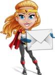 Female Superhero Cartoon Vector Character AKA Starshine Megagirl - Letter