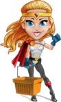 Female Superhero Cartoon Vector Character AKA Starshine Megagirl - Shopping