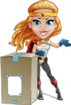 Female Superhero Cartoon Vector Character AKA Starshine Megagirl - Delivery 1