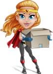Female Superhero Cartoon Vector Character AKA Starshine Megagirl - Delivery 2