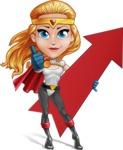 Female Superhero Cartoon Vector Character AKA Starshine Megagirl - Arrow 1