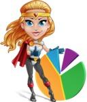 Female Superhero Cartoon Vector Character AKA Starshine Megagirl - Chart
