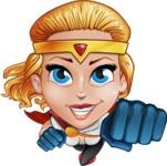 Female Superhero Cartoon Vector Character AKA Starshine Megagirl - Fly 1
