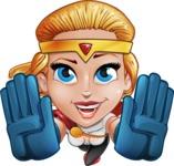 Female Superhero Cartoon Vector Character AKA Starshine Megagirl - Fly 3