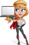 Female Superhero Cartoon Vector Character AKA Starshine Megagirl - Notebook 1