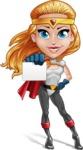 Female Superhero Cartoon Vector Character AKA Starshine Megagirl - Presentation 1