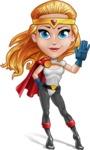 Female Superhero Cartoon Vector Character AKA Starshine Megagirl - Hello