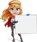 Female Superhero Cartoon Vector Character AKA Starshine Megagirl - Presentation 3