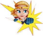 Female Superhero Cartoon Vector Character AKA Starshine Megagirl - Shape 1