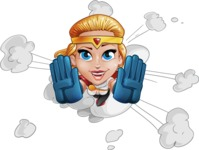 Female Superhero Cartoon Vector Character AKA Starshine Megagirl - Shape 2