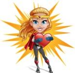 Female Superhero Cartoon Vector Character AKA Starshine Megagirl - Shape 7
