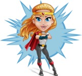 Female Superhero Cartoon Vector Character AKA Starshine Megagirl - Shape 8