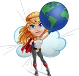 Female Superhero Cartoon Vector Character AKA Starshine Megagirl - Shape 9