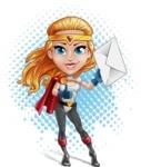 Female Superhero Cartoon Vector Character AKA Starshine Megagirl - Shape 11