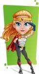 Female Superhero Cartoon Vector Character AKA Starshine Megagirl - Shape 12