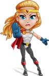 Female Superhero Cartoon Vector Character AKA Starshine Megagirl - Angry 1