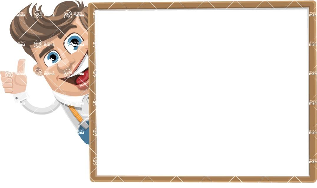 Funny Young Man Cartoon Vector Character AKA Spencer - Presentation 5