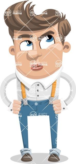Funny Young Man Cartoon Vector Character AKA Spencer - Roll Eyes