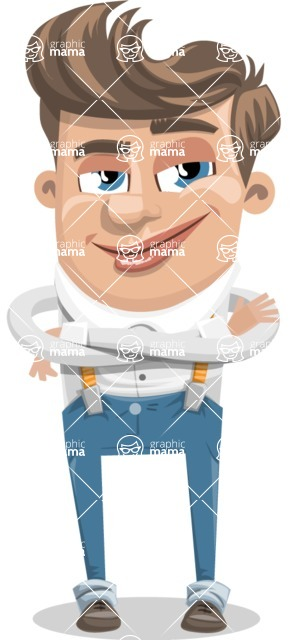 Funny Young Man Cartoon Vector Character AKA Spencer - Patient