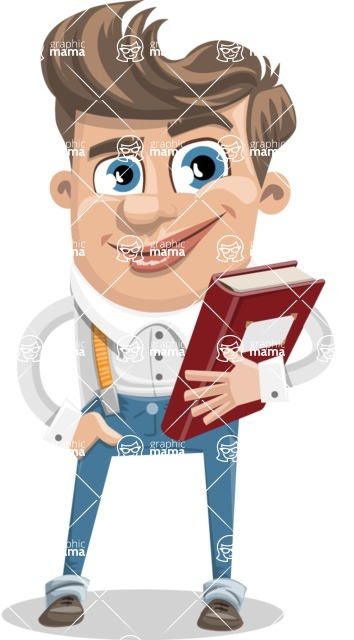 Funny Young Man Cartoon Vector Character AKA Spencer - Book 3