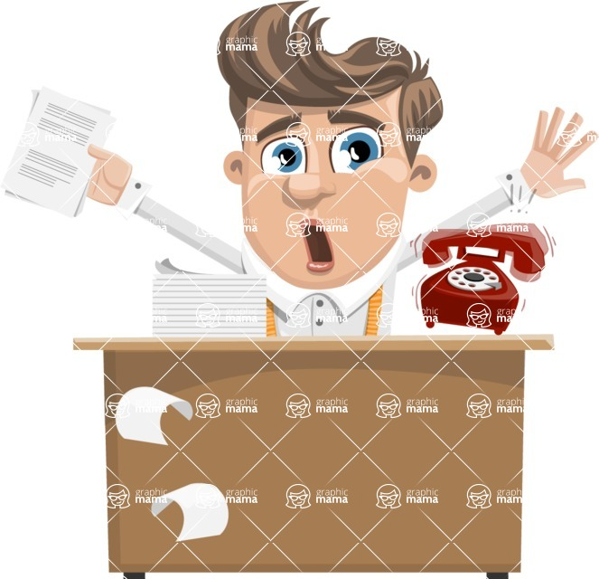 Funny Young Man Cartoon Vector Character AKA Spencer - Office Fever