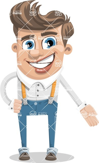 Funny Young Man Cartoon Vector Character AKA Spencer - Show 1