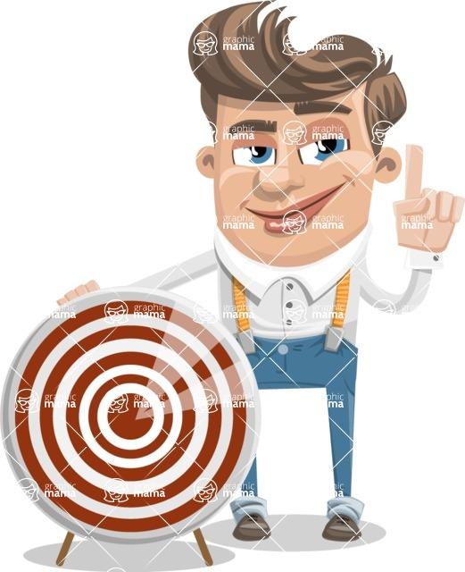 Funny Young Man Cartoon Vector Character AKA Spencer - Target