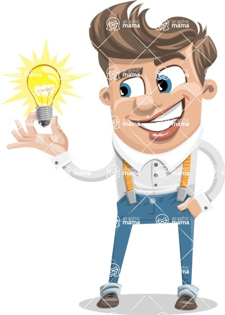 Funny Young Man Cartoon Vector Character AKA Spencer - Idea 1