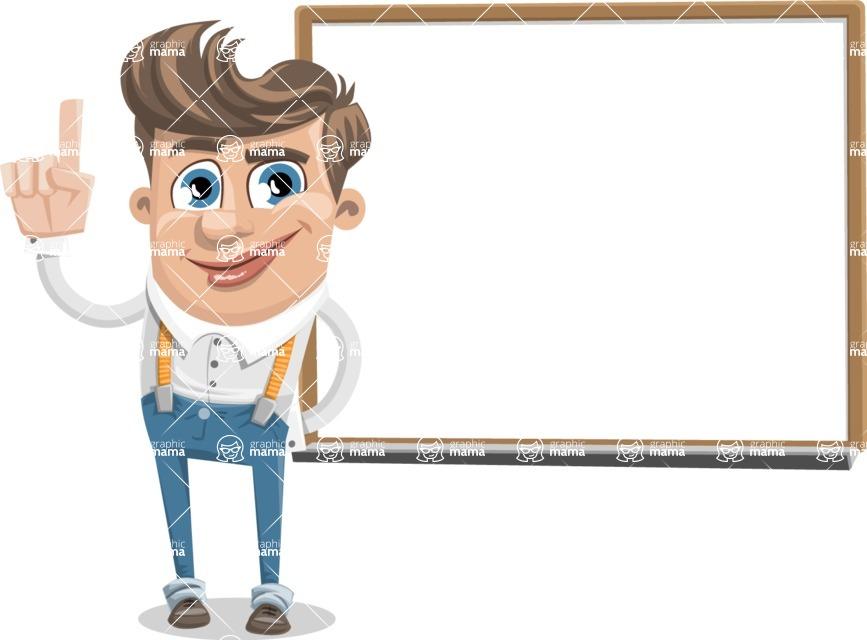 Funny Young Man Cartoon Vector Character AKA Spencer - Presentation 3