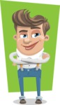 Funny Young Man Cartoon Vector Character AKA Spencer - shape5