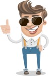 Funny Young Man Cartoon Vector Character AKA Spencer - Sunglasses