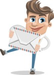 Funny Young Man Cartoon Vector Character AKA Spencer - Letter