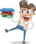 Funny Young Man Cartoon Vector Character AKA Spencer - Book 2