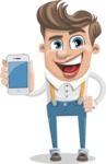 Funny Young Man Cartoon Vector Character AKA Spencer - iPhone