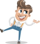 Funny Young Man Cartoon Vector Character AKA Spencer - Showcase 2