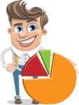 Funny Young Man Cartoon Vector Character AKA Spencer - Chart