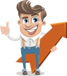 Funny Young Man Cartoon Vector Character AKA Spencer - Pointer 1