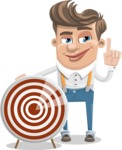 Funny Young Man Cartoon Vector Character AKA Spencer - Target