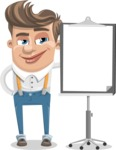 Funny Young Man Cartoon Vector Character AKA Spencer - Presentation 1