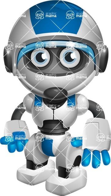 robot vector cartoon character design by GraphicMama - Normal