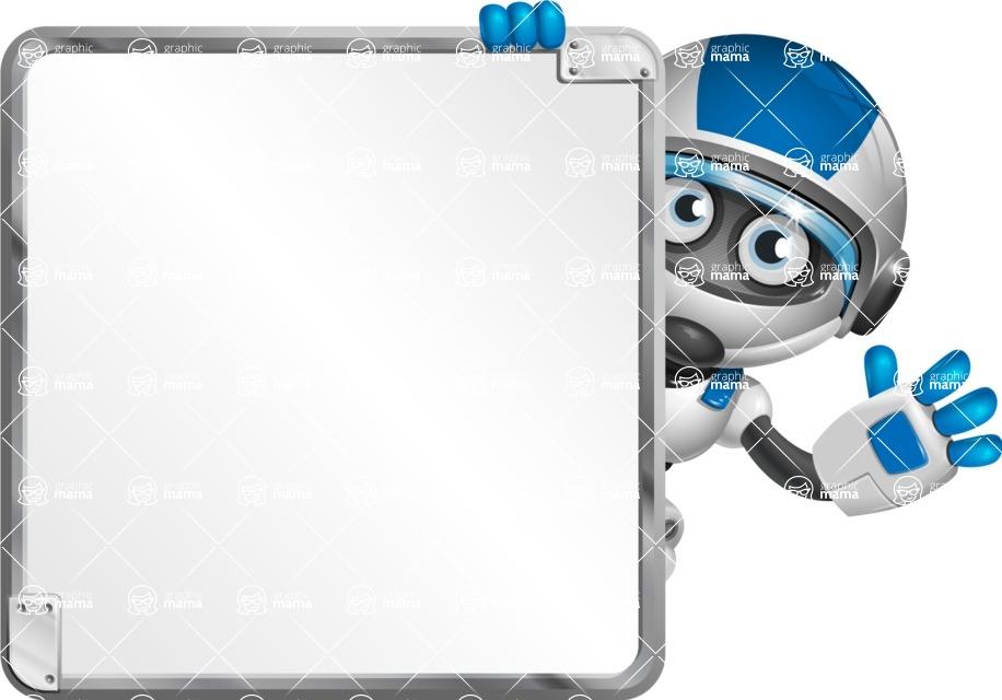 robot vector cartoon character design by GraphicMama - Presentation 2