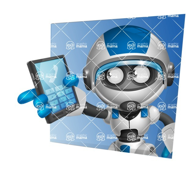 robot vector cartoon character design by GraphicMama - Shape3