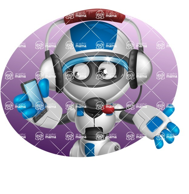 robot vector cartoon character design by GraphicMama - Shape4