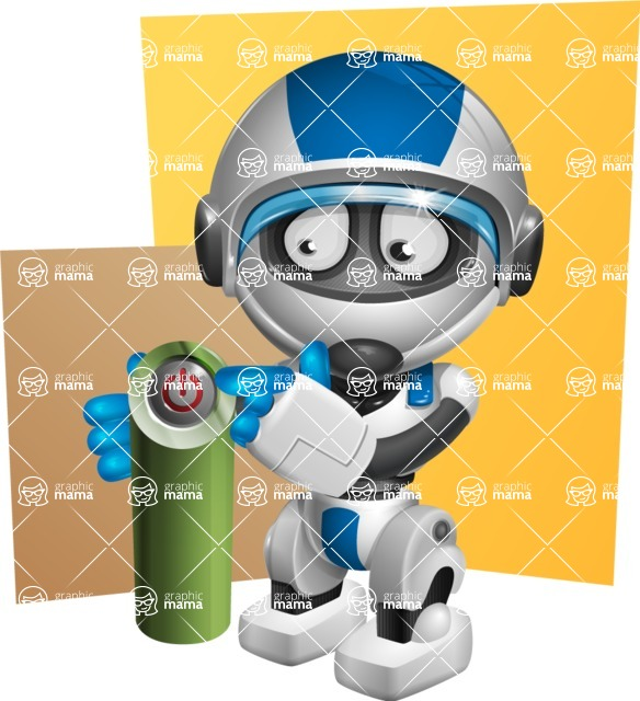 robot vector cartoon character design by GraphicMama - Shape10