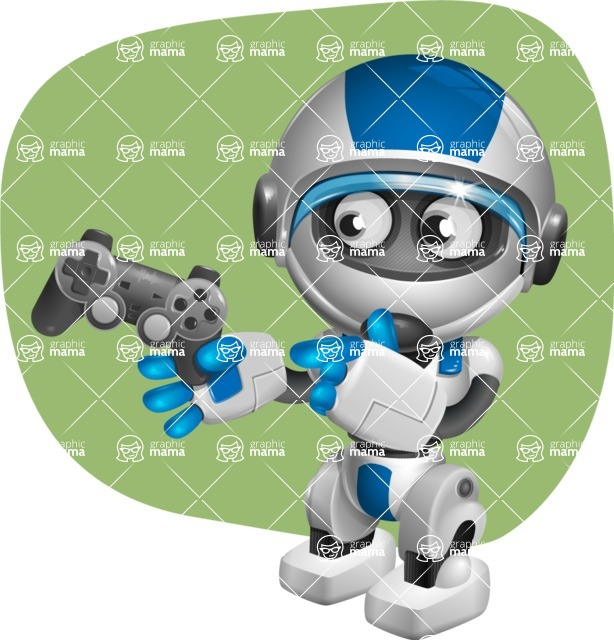 robot vector cartoon character design by GraphicMama - Shape11