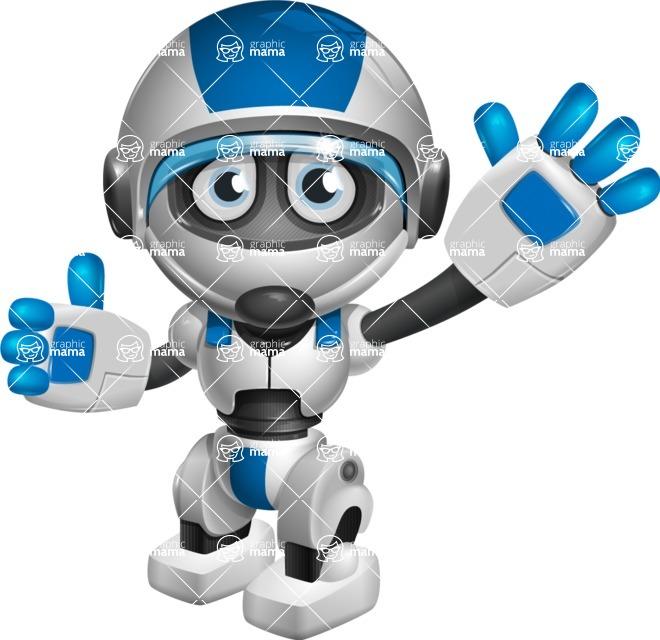 robot vector cartoon character design by GraphicMama - Hello