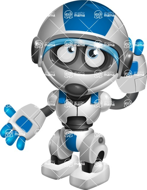 robot vector cartoon character design by GraphicMama - Oops